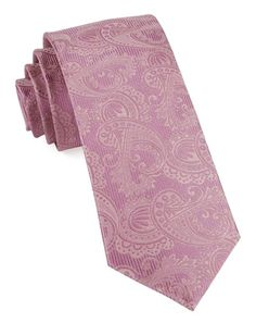 Twill Paisley Ties - Dusty Rose | Ties, Bow Ties, and Pocket Squares | The Tie Bar