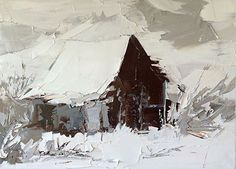 Winter Barn by Sandra Pratt, Oil
