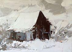 Winter Barn by Sandra Pratt, Oil