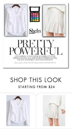"""SheIn"" by balerina-all-my-life ❤ liked on Polyvore featuring WithChic, MANGO and NYX"
