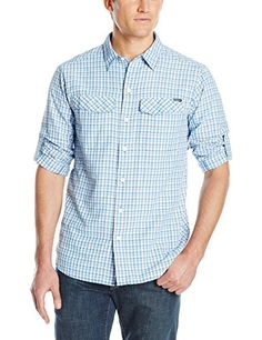 Columbia Men's Silver Ridge Plaid Long Sleeve Shirt, Pacific Blue Ripstop Plaid, Medium ** Learn more by visiting the affiliate link Amazon.com on image.