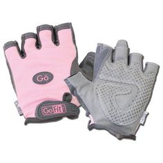 GoFit Womens Pearl-Tac Weightlighting Gloves Pink - GF-PTACP-MED