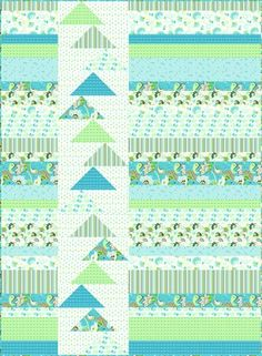 strip quilt with flying geese