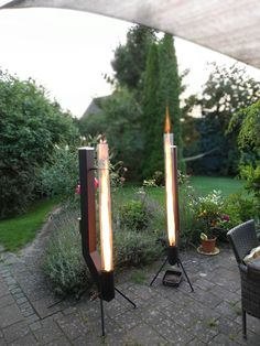 Pellet torch does anyone already have one? Pellet Heater, Rocket Heater, Rocket Stoves, Diy Fire Pit, Fire Pit Backyard, Backyard Bbq, Pellet Fireplace, Fireplace Hearth, Jet Stove