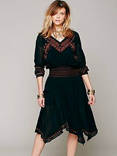 Free People Neo Folk Embroidered Dress, $99.95