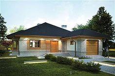Projekt domu Kroton 116,1 m2 - koszt budowy 238 tys. zł - EXTRADOM Cottage Style Homes, Bungalow, Gazebo, Shed, Outdoor Structures, Outdoor Decor, Modern, Home Decor, Houses