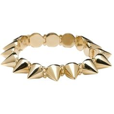 CC Skye Mercy Spike Bracelet ($185) ❤ liked on Polyvore featuring jewelry, bracelets, pulseras, accessories, gold, women, bracelet bangle, cc skye, spike jewelry e spike bracelet
