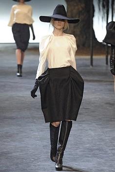 Lanvin. white and black #runway