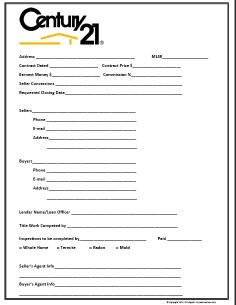 real estate listing sheet template - century 21 themed buyer contact form images frompo
