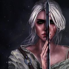 Ciri The Witcher Wild Hunt art Witcher Art, Witcher 3 Wild Hunt, Ciri Witcher, The Witcher Books, The Witcher 3, Fantasy Characters, Female Characters, Dark Fantasy, Fantasy Art