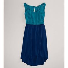 Aerie Ae Chiffon Hi-Lo Dress ($50) ❤ liked on Polyvore