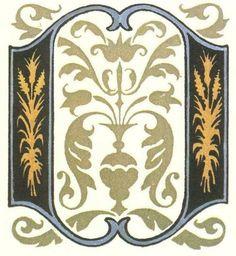 グリム童話:千匹皮 装飾文字 Grimm's Fairy Tales:Catskin / Letters