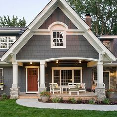 Love the color and dormer detail, bumped out board and batten