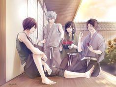 Pixiv Id 1414293, Gin Tama, Sakamoto Tatsuma, Katsura Kotaro, Takasugi Shinsuke, Sakata Gintoki