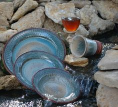 Southwestern Style Dinnerware - love these! & rustic dinnerware sets clearance | Fresh Pine Pottery Dinnerware - 4 ...