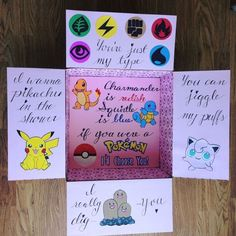Pokemon pikachu squirtle jigglypuff military care package – Best Baby And Baby Toys Bf Gifts, Diy Gifts For Him, Diy Gifts For Boyfriend, Gifts For Husband, Cute Gifts, Gamer Boyfriend, Party Favors, Pokemon Gifts, Birthday Gift For Him