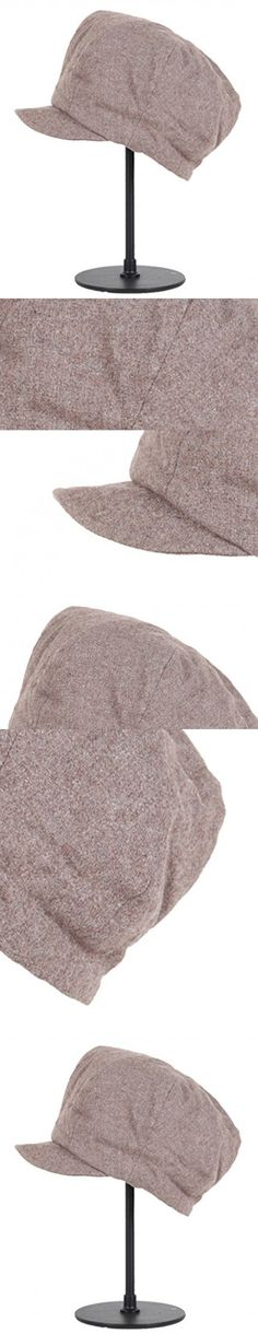 Tidecloth Women's Casual Round Crown Casual None Simple Beret Hat Khaki One Size