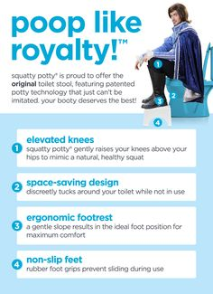 Official Site Of The Original Squatty Potty® Toilet Stool Old Closet Doors, Toilet Stool, Costochondritis, Squatty Potty, Cervical Spondylosis, Cluster Headaches, Chronic Fatigue Syndrome, Chronic Illness, Bad Knees