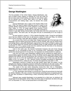 Biography of President Washington