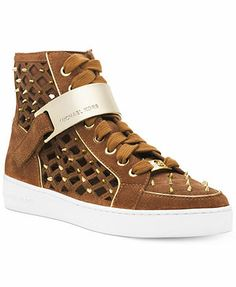 MICHAEL Michael Kors Keaton High Top Sneakers...Want these in reeeedddddd.......too much and cannot seem to find them anywhere else....let alone in my size here....a girl can dream
