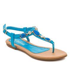 Look at this #zulilyfind! Blue Medallion Marina Sandal by Lady Godiva #zulilyfinds
