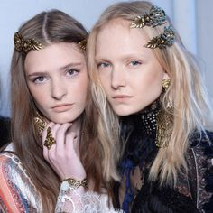 Biggest Hair Trends For Spring 2016   The Zoe Report -Embellishing your 'do is more popular than ever. Whether you prefer a simple headband or dramatic jewels to amp up your look this season, the trend is customizable enough to suit any taste level.