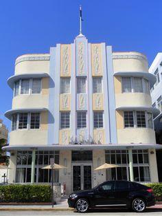Art Deco building - South Beach - Miami  by Lucie