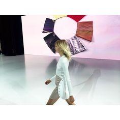 Step 2 : the skirt. @Courreges @Sebastien.Meyer @Arnaud_Vaillant #Courreges #PFW by vogueparis