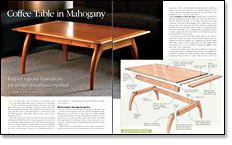 Coffee Table in Mahogany
