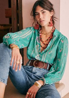 Mode Outfits, Fashion Outfits, Womens Fashion, Mode Hippie, Hippie Chic, Look Boho Chic, Summer Outfits, Casual Outfits, Estilo Hippie