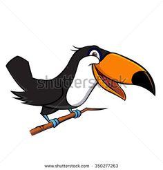 Cute toucan bird cartoon