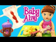 Baby Alive Will It Smoothie Part 3 Baby Doll Lucy Drinks Gross Bottle & Nasty Poop Diaper Change - YouTube