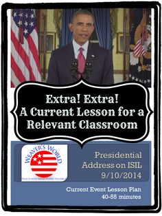 Hot off the press and into your classroom!  A lesson on the President's address on ISIL.
