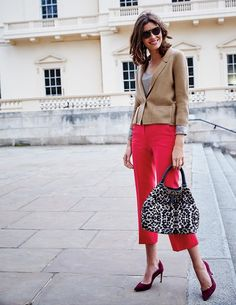 Crop Flare Pants Pants & Skirts at Boden Cropped Flare Pants, Cropped Trousers, Crop Flare, Knit Blazer, Pants For Women, Clothes For Women, Fashion Pictures, Shoe Photography, Red Outfits