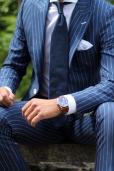 Image result for olive chalk stripe suit