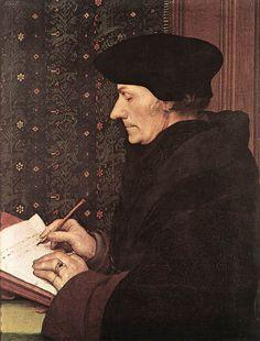 Hans Holbein dit le Jeune - Érasme - 1523 - huile sur bois - 42x32 cm - Musée du Louvre - Paris