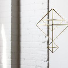 Brass Himmeli no. 6 / Modern Hanging Mobile / Geometric by HRUSKAA