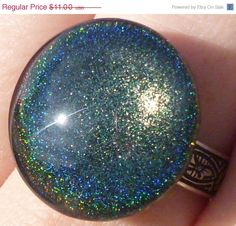 ON SALE Nail Polish Ring  Lizard Belly by BeadsInk on Etsy, $8.80