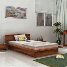 Give A Stunning Look To Your #bedroom With This Dwayne Single Bed. This #