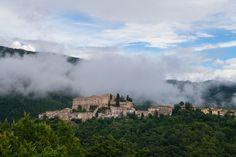 Rocca Sinibalda into the clouds, Italy