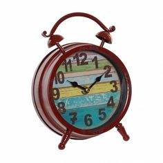Alarm Clock, Metal, Home Decor, Desk Clock, Tree Hut Watches, Grow Old, Red, Projection Alarm Clock, Decoration Home