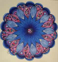 Colored by Vicki Patterson using pens/markers. Valentina Harper design.
