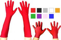 Superhero Costume Gloves in Assorted Colors