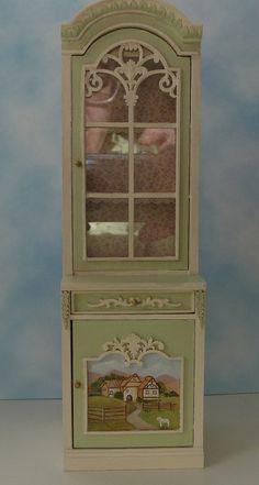 Beautiful 1:12 scale Handpainted Bespaq Cabinet  by zimraphel