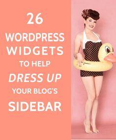 26 Widgets to Dress up your WordPress Sidebar - A Prettier Web Wordpress For Beginners, Blogging For Beginners, Make Money Blogging, How To Make Money, Blogging Ideas, Earn Money, Onpage Seo, Web Design, Blog Design