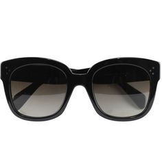 Céline New Audrey sunglasses (€395) ❤ liked on Polyvore featuring accessories, eyewear, sunglasses, glasses, celine, black, celine eyewear, black glasses, summer sunglasses and acetate glasses