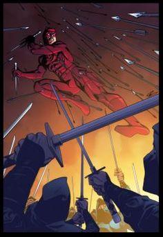 Daredevil and ninja by GustavoSantos01