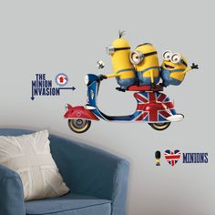 Popular Characters Minions The Movie Wall Decal