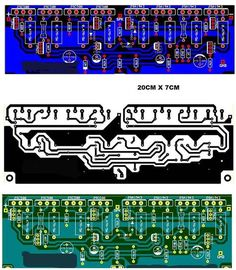 Schema and layout Best power amplifier for live sound using 2SA1943, 2SC500, C945, TIP42C, TIP41C
