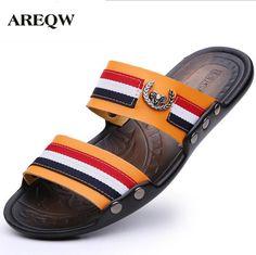 ff094d896d68 AREQW 2017 summer new men slippers casual beach shoes men fashion sandals  shoes comfortable men s cool slippers-in Slippers from Shoes on  Aliexpress.com ...